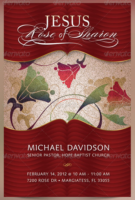 Rose of Sharon Sermon Postcard and CD Template