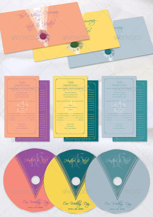 This Wedding Program Template Bundle by Godserv has an Envelope Style