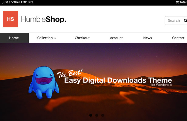 Humbleshop - Minimal Easy Digital Downloads Theme