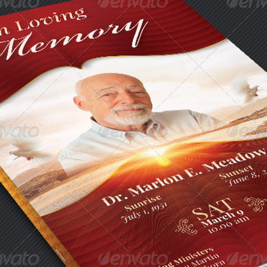 Loving Memory Funeral Program Template