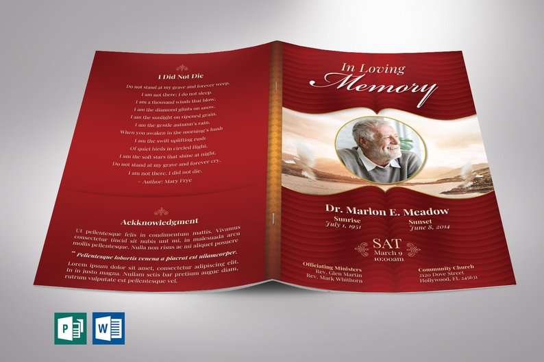 Funeral Programs for Men - Word