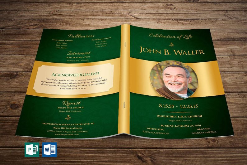Funeral Programs for Men